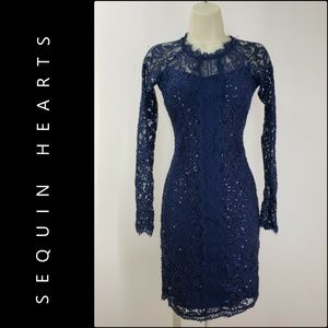 Sequin Hearts Woman Long Sleeve Body Con Dress 5